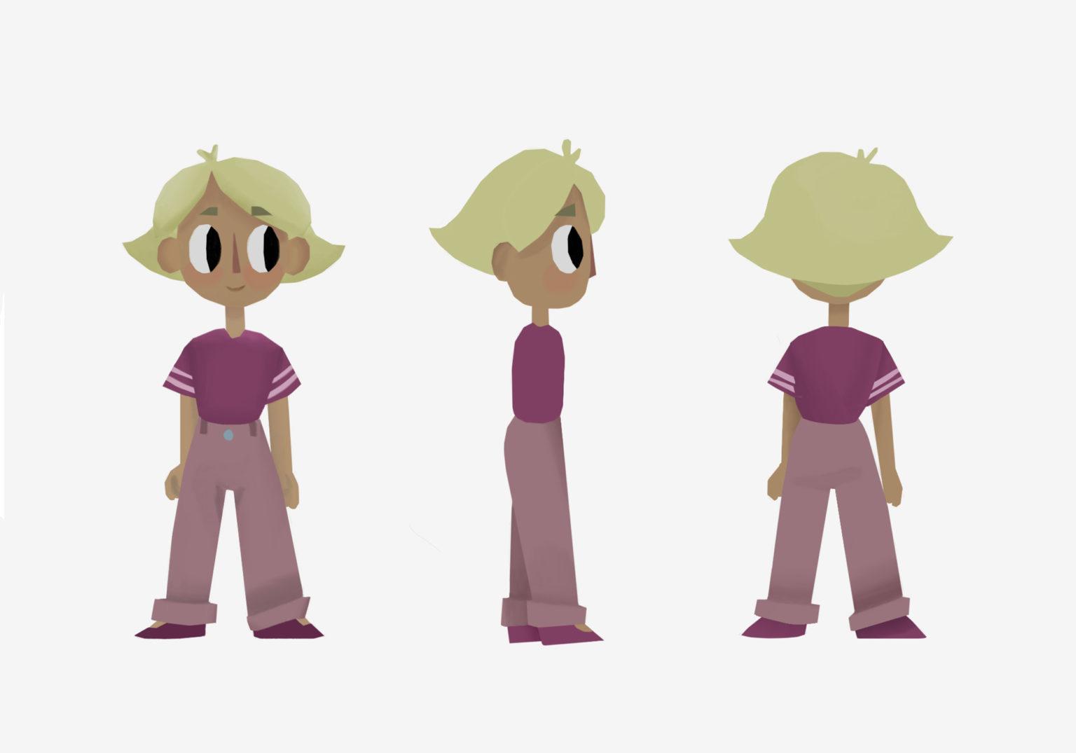 final 2D design of main character